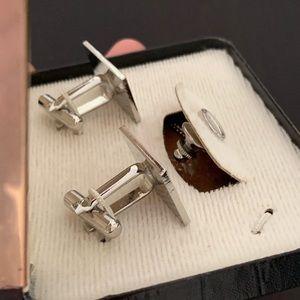 King Accessories - Vintage Silver Cufflinks & Tie Tack Set